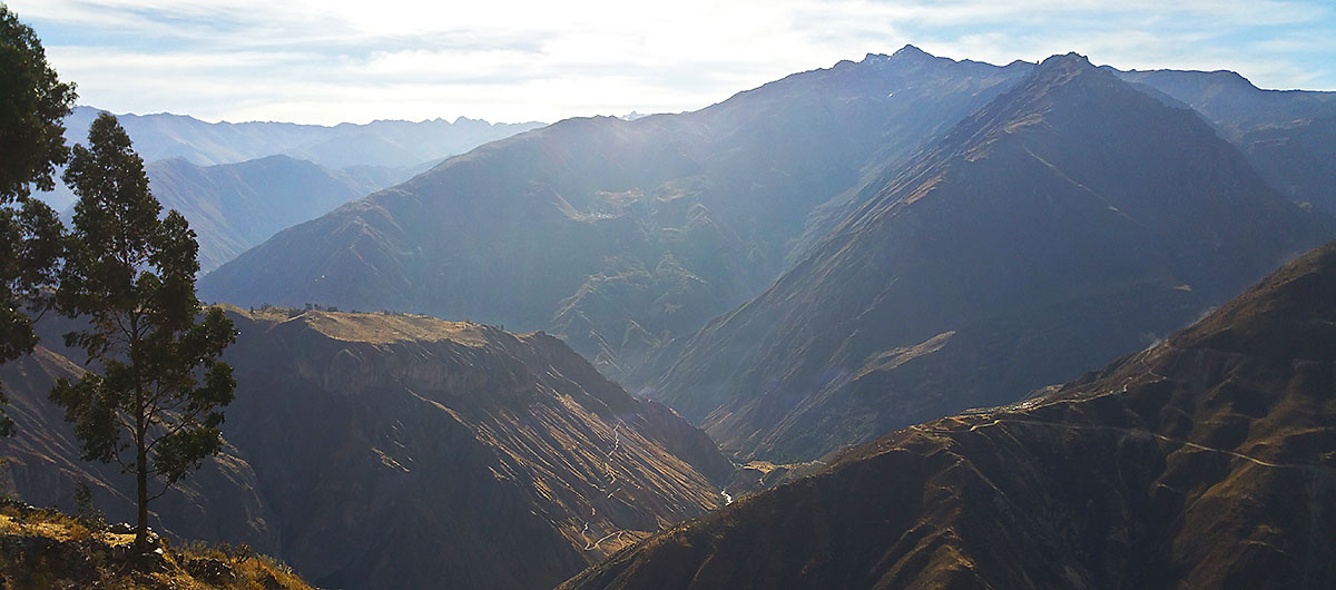 Colca Canyon in the Andes